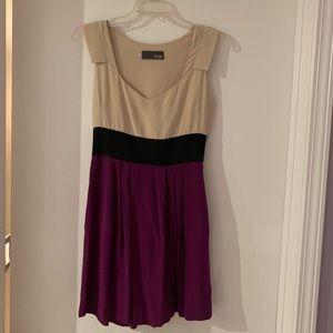 Myne silk color block mini dress